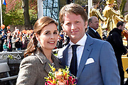De koninklijke familie is in Zwolle voor de viering van Koningsdag. /// The royal family is in Zwolle for the celebration of King's Day.<br /> <br /> Op de foto / On the photo:  Prins Pieter Christiaan en prinses Anita