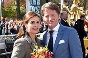 De koninklijke familie is in Zwolle voor de viering van Koningsdag. /// The royal family is in Zwolle for the celebration of King's Day.<br /> <br /> Op de foto / On the photo:  Prins Pieter Christiaan en prinses Anita