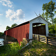 The restored Shieldstown Covered Bridge over the East Fork of the White River just west of Seymour, Indiana. The 1876 bridge has been converted to a pedestrian bridge. Nathan Lambrecht/Journal Communications