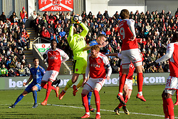 Fleetwood Towns' Chris Neal makes a save