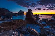 The coast of Skoples island at sunrise
