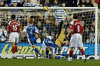 Photo: Gareth Davies.<br />Reading v Charlton Athletic. The Barclays Premiership. 18/11/2006.<br />Reading striker Kevin Doye (9) lobs the Charlton keeper to make it 2-0 to Reading.