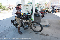 Dean Bordigioni of California on his Class-1 single-cylinder single-speed 1914 Harley-Davidson during the Motorcycle Cannonball Race of the Century. Stage-4 from Chillicothe, OH to Bloomington, IN. USA. Tuesday September 13, 2016. Photography ©2016 Michael Lichter.