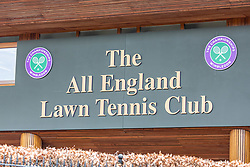 © Licensed to London News Pictures. 31/03/2020. London, UK. Views of the All England Lawn Tennis Club, Wimbledon. AELTC which is set to announce on Wednesday (1 April) the cancellation of the Wimbledon Tennis Championships 2020 due to the coronavirus pandemic. The pandemic has led to the cancellation of major sporting events across the World as the coronavirus crisis continues. Photo credit: Alex Lentati/LNP