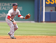 ATLANTA - JUNE 28:  Second baseman Dustin Pedroia #15 of the Boston Red Sox gets ready for a play during the game against the Atlanta Braves at Turner Field on June 28, 2009 in Atlanta, Georgia.  The Braves beat the Red Sox 2-1.  (Photo by Mike Zarrilli/Getty Images)