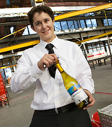 A variety of beverages were served as Blu Homes opened their West Coast factory on Mare Island in Vallejo, California Dec. 1, 2011.  Over 400 guests attended a ribbon cutting ceremony at the 250,000-square-foot facility.