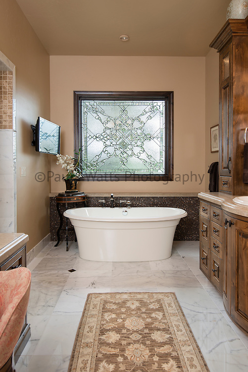 Custom bathroom design with soaking tub
