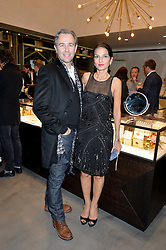 YASMIN MILLS and MARK NEWNS at a party to celebrate the launch of the Monica Vinader London Flagship store at 71-72 Duke of York Square, London SW3 on 4th December 2014.