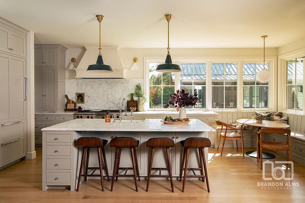 Beautiful farmhouse kitchen photo by Brandon Alms Photography