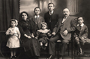 Immigrant family from East Europe or Russia settled in Britain in 1905 after the anti-Semitic pogroms. Photographed in 1914