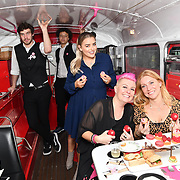 Amy Christophers, Lisa J Allen and Lynne Lambourne attend Brigits Bakery host their Pink Ribbon Afternoon Tea in aid of the Pink Ribbon Foundation, London, UK. 16 October 2018.