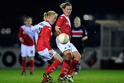 12-11-2009 VOETBAL: FC UTRECHT -AZ VROUWEN: UTRECHT<br /> Utrecht verliest met 1-0 van AZ / Anouk Hoogendijk en Rowena Blankenstijn<br /> ©2009-WWW.FOTOHOOGENDOORN.NL