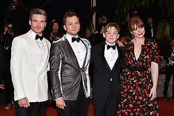 """Richard Madden, Taron Egerton, Kit Connor and Bryce Dallas Howard depart from the screening of """"Rocket Man"""" during the 72nd annual Cannes Film Festival on May 16, 2019 in Cannes, France. Photo by Lionel Hahn/ABACAPRESS.COM"""