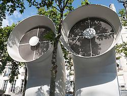 Ventilator pipes at Pompidou Centre, Paris, France
