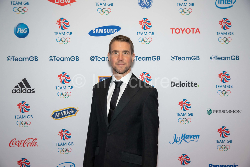 Leon Taylor, a British former competitive diver, during Team GB's annual ball at Old Billingsgate on the 21st November 2019 in London in the United Kingdom.