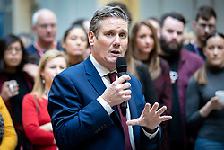 © Licensed to London News Pictures. 09/01/2020. London, UK. Sir Keir Starmer, the frontrunner in the race to become the next Leader of the Labour Party, speaks at the Unison trade union offices in London. Unison has backed Keir Starmer as leader and Angela Rayner as deputy leader. Photo credit: Rob Pinney/LNP