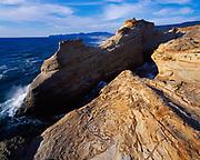 Wave-sculpted headlands at Cape Kiwanda, Cape Kiwanda State Park, Oregon.