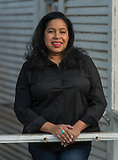 Letitia Guillory poses for a photograph at Project Row Houses, February 10, 2015.