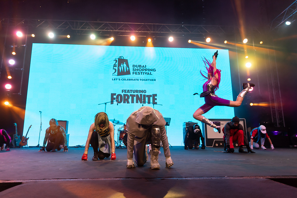 Fortnite show at Burj Park, DSF 2020
