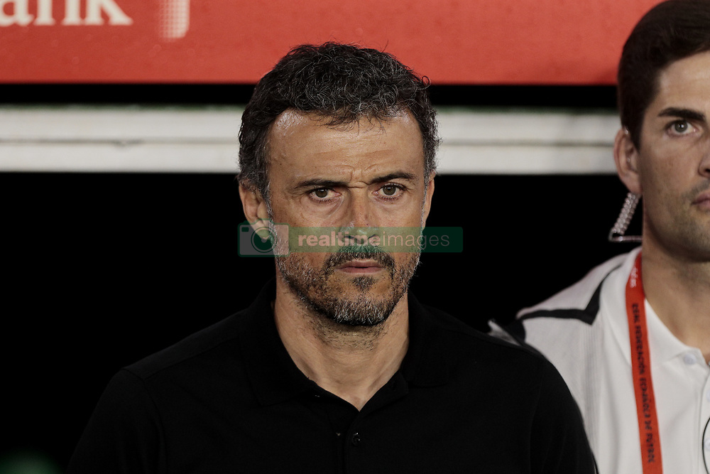 Spain's coach Luis Enrique Martinez during UEFA Nations League 2019 match between Spain and England at Benito Villamarin stadium in Sevilla, Spain. October 15, 2018. Photo by A. Perez Meca/Alterphotos/ABACAPRESS.COM