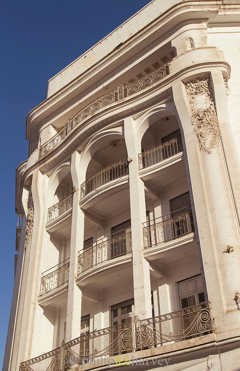 Art deco building in Casablanca, Morocco