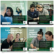 Lloyds Bank Community Wall Posters. Commission for Lloyds Bank Foundation