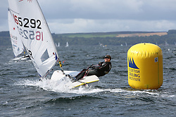 Day 4 NeilPryde Laser National Championships 2014 held at Largs Sailing Club, Scotland from the 10th-17th August.<br /> <br /> 165292, Joe WOODLEY<br /> <br /> Image Credit Marc Turner