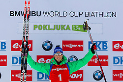 Simon Schempp (GER) competes during Men 12,5 km Pursuit at day 3 of IBU Biathlon World Cup 2015/16 Pokljuka, on December 19, 2015 in Rudno polje, Pokljuka, Slovenia. Photo by Urban Urbanc / Sportida