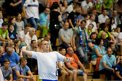 Matej Gaber #22 of Slovenia during handball match between National teams of Slovenia and Hungary in play off of 2015 Men's World Championship Qualifications on June 15, 2014 in Rdeca dvorana, Velenje, Slovenia. Photo by Urban Urbanc / Sportida