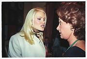 Caprice, Countess Cinzano cocktails, Broomhouse Rd. London. 26 November 1996