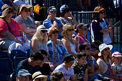 LIVERPOOL, ENGLAND - Sunday, June 24, 2018: Spectators look on during day four of the Williams BMW Liverpool International Tennis Tournament 2018 at Aigburth Cricket Club. (Pic by Paul Greenwood/Propaganda)