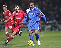 Photo: Marc Atkins.<br /> Peterborough United v Swindon Town. Coca Cola League 2. 30/01/2007. Sofiane Zaaboub (L) of Swindon in action with Micah Hyde of Peterborough.