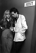 Mick Jones and Ellen Foley The Clash backstage at the London Lyceum 1981