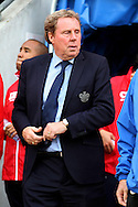 Queens Park Rangers Manager Harry Redknapp prior to the game. Skybet football league championship play off semi final, 1st leg match, Wigan Athletic v QPR at the DW Stadium in Wigan, England on Friday 9th May 2014.pic by Chris Stading, Andrew Orchard sports photography.