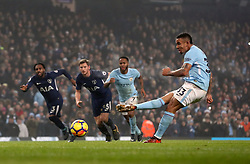 Manchester City's Gabriel Jesus misses from the penalty spot during the Premier League match at the Etihad Stadium, Manchester.