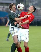 Fotball<br /> Privatlandskamp<br /> 04.06.2005<br /> Nord Irland v Tyskland 1-4<br /> Foto: imago/Digitalsport<br /> NORWAY ONLY<br /> <br /> Kevin Kuranyi - Tyskland<br /> George McCartney - Nord Irland