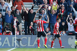 Goal, Southampton's Dusan Tadic scores, Southampton 2-0 Swansea City - Mandatory by-line: Jason Brown/JMP - 07966 386802 - 26/09/2015 - FOOTBALL - Southampton, St Mary's Stadium - Southampton v Swansea City - Barclays Premier League
