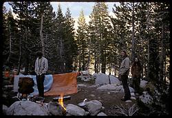 Campsite at Dusk, Young Lakes, Yosemite National Park. View shot on Kodachrome II, Nikon Ftn camera, 31 July 1973