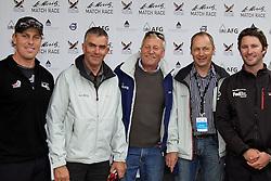 Dave Swete, Adam Minoprio,  ETNZ/BlackMatch Racing, with guests, winners of the Corviglia Challenge/Guest Regatta. St Moritz Match Race 2010. World Match Racing Tour. St Moritz, Switzerland. 3rd September 2010. Photo: Ian Roman/WMRT.