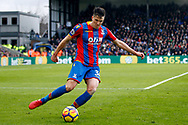 Martin Kelly of Crystal Palace in action. Premier League match, Crystal Palace v Newcastle utd at Selhurst Park in London on Sunday 4th February 2018. pic by Steffan Bowen, Andrew Orchard sports photography.