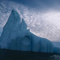 Icebergs in Antarctica. Near abandoned British and US stations Old Palmer.