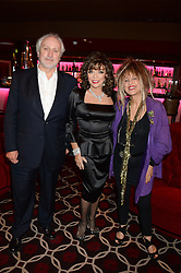 Left to right, NICK ALLOTT, JOAN COLLINS and ELIZABETH EMANUEL at a party to celebrate the publication of 'Passion for Life' by Joan Collins held at No41 The Westbury Hotel, Mayfair, London on21st October 2013.
