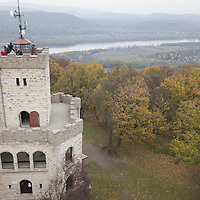 Watchpoint Zsitvay is seen with river Danube in the autumn afternoon on an aerial photo taken near Visegrad (about 43 kilometres North of capital city Budapest), Hungary on Nov. 1, 2017. ATTILA VOLGYI
