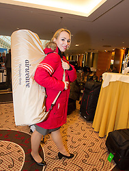 28.01.2014,  Marriott, Wien, AUT, Sochi 2014, Einkleidung OeOC, im Bild Kerstin Frank (Eiskunstlauf, AUT) // Kerstin Frank (figure skating, AUT) during the outfitting of the Austrian National Olympic Committee for Sochi 2014 at the  Marriott in Vienna, Austria on 2014/01/28. EXPA Pictures © 2014, PhotoCredit: EXPA/ JFK