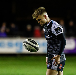 Harri Morgan of Ospreys<br /> <br /> Photographer Simon King/Replay Images<br /> <br /> Guinness PRO14 Round 7 - Ospreys v Connacht - Friday 26th October 2018 - The Brewery Field - Bridgend<br /> <br /> World Copyright © Replay Images . All rights reserved. info@replayimages.co.uk - http://replayimages.co.uk