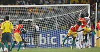 Photo: Steve Bond/Richard Lane Photography.<br />Ghana v Guinea. Africa Cup of Nations. 20/01/2008. Oumar Kalabane (2nd from R) equalises for Guinea