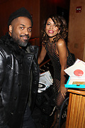New York, NY-December 20: (L-R) Recording Artist Rashad Smith and DJ Natasha Diggs attend the Ascension Party-A Holiday Affair curated by D'Prosper and held at the Top of the Standard on December 20, 2017 in New York City.  (Terrence Jennings/terrencejennings.com)