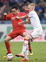 v.l. Manuel Schmiedebach, Kevin Vogt (Koeln)<br /> Hannover, 12.03.2016, Fussball Bundesliga, Hannover 96 - 1. FC Köln<br /> Norway only