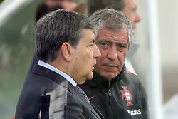 May 30, 2018 - Lisbon, Portugal - President of the Portuguese football federation Fernando Gomes (L) speaks with Portugal's head coach Fernando Santos during a training session at Cidade do Futebol (Football City) training camp in Oeiras, outskirts of Lisbon, on May 30, 2018, ahead of the FIFA World Cup Russia 2018 preparation matches against Belgium and Algeria...........during the Portuguese League football match Sporting CP vs Vitoria Guimaraes at Alvadade stadium in Lisbon on March 5, 2017. Photo: Pedro Fiuzaduring the Portugal Cup Final football match CD Aves vs Sporting CP at the Jamor stadium in Oeiras, outskirts of Lisbon, on May 20, 2015. (Credit Image: © Pedro Fiuza/NurPhoto via ZUMA Press)