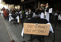 South Africa - Johannesburg - 22 July 2020 - Restaurants employees and owners at Parktown North took part in their 'Million seats on the streets' protest, asking the government to ease its lockdown restrictions placed on the restaurant industry by extending the curfew and unbanning alcohol sales<br /> Picture: Itumeleng English/African News Agency(ANA)